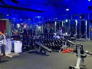 캐러멜라운지 Salle de sport moderne Gris