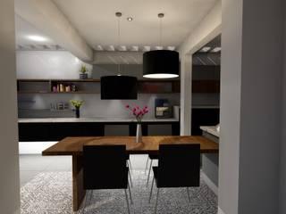 Diseño Cocina: Cocinas de estilo moderno por A/K Arquitectura