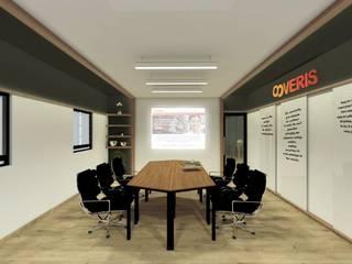 CPROY1: Estudios y oficinas de estilo moderno por Kombo Creativo