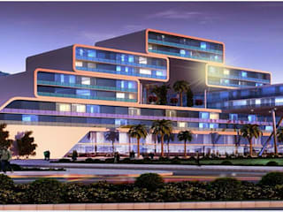 Habitat, Mixed use development, retail, office and serviced apartment Modern hotels by Form & Function Modern