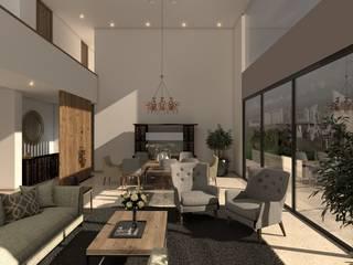 SALA: Salas de estilo moderno por Kombo Creativo