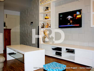 Swiss County Residential Project Modern living room by H&D Spaces Inc. Modern