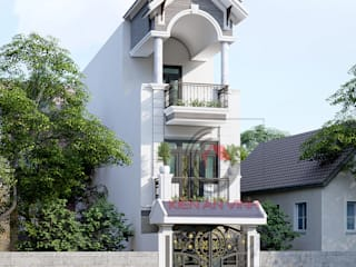 Casas de estilo asiático de Cong ty thiet ke nha biet thu dep Kien An Vinh Asiático