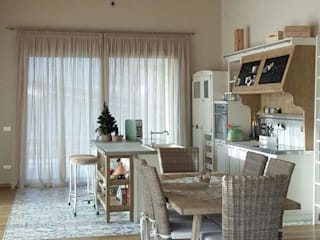 interior design, tendaggi, tappeti e complementi d'arredo zinesi design Cucina rurale
