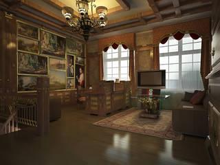 Кабинет вход в новое пространствоКабинет с картинной галереей: Рабочие кабинеты в . Автор – Строев Михаил