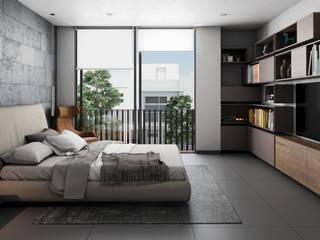 Recamara Dormitorios modernos de Stuen Arquitectos Moderno Piedra