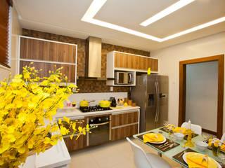 Cozinha Gourmet: Cozinhas  por Wagner Farias Arquitetura e Interiores
