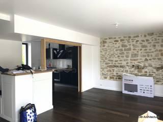 Maison LV01 3B Architecture Salon moderne Bois Blanc