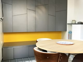 3B Architecture Modern dining room Wood Grey