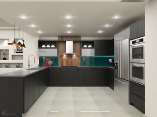 propuesta de diseño para cocina integral de Pinto Arquitectura Moderno