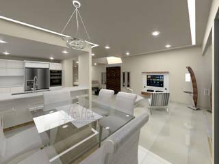 Propuesta de Diseño Interior para sala y área de estudio de Pinto Arquitectura Moderno