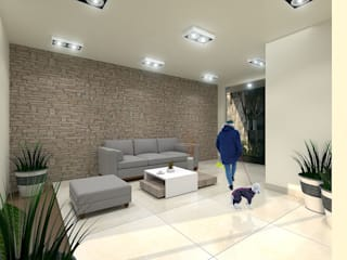 Sala de Espera: Salas de estilo minimalista por Pinto Arquitectura
