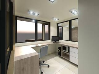 Propuesta de Diseño para Vigilancia Habitaciones de estilo minimalista de Pinto Arquitectura Minimalista