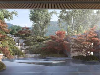 Casa Davis, Juan Grimm landscape artist Light Syndrome Jardines de estilo moderno