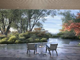 Casa Davis, Juan Grimm landscape artist Light Syndrome Jardines de estilo asiático