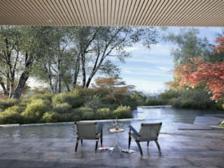Casa Davis, Juan Grimm landscape artist: Jardines de estilo  por Light Syndrome