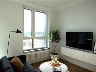 Scandinavian style living room by 'Комфорт Дизайн' Scandinavian