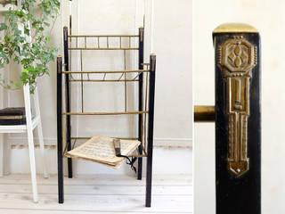 Antike Beistelltische Maisondora Vintage Living ArbeitszimmerAufbewahrungen Holz Schwarz