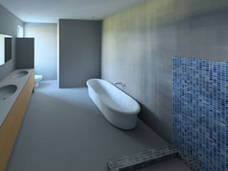 House Mthombeni:  Bathroom by Müller Architecture SA