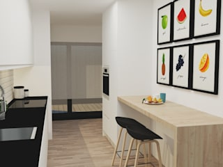 Kitchen units by IAM Interiores, Modern