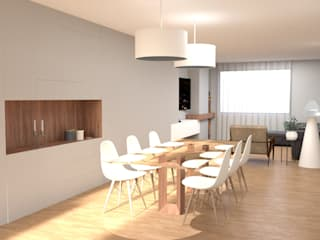 Modern dining room by IAM Interiores Modern
