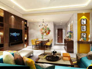 The living room concept:   by Ideagully Products Innovations Private Limited