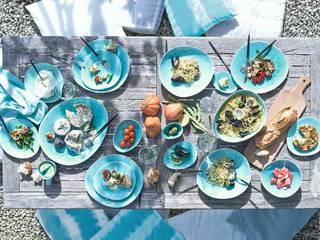 In&Out Cooking ComedorVasos y vajilla Porcelana Azul
