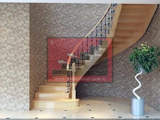 RST Ahşap Merdivenci – Ahşap Taşıyıcılı Merdivenler:  tarz Merdivenler