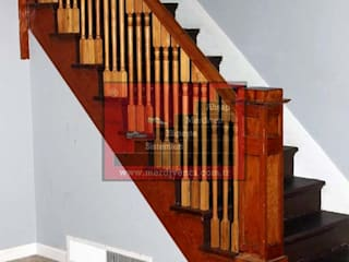RST Ahşap Merdivenci – İstanbul Beton Üzeri Ahşap Basamak Sistemleri:  tarz Merdivenler