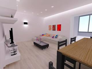 Casa MF_SP: Soggiorno in stile  di Bartolomeo Fiorillo