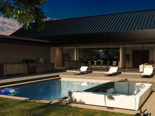 Casa Y+P: Albercas de jardín de estilo  por Grupo PAAR Arquitectos