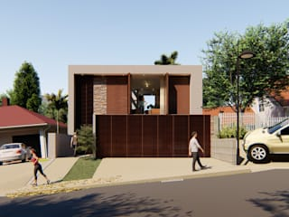 Arquitetura | Residencia | Casa LAR IEZ Design Casas geminadas Pedra Castanho