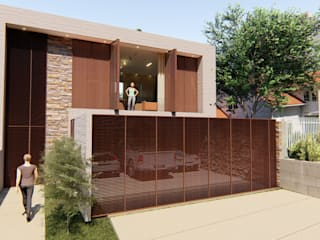 IEZ Design Rumah Modern Batu Brown