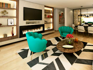 Modern media room by Luis Escobar Interiorismo Modern