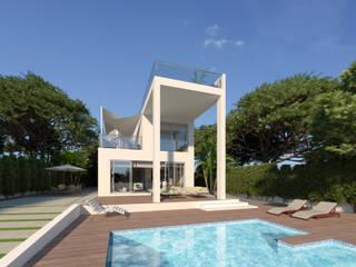 Luxury Villa at La Nucía, Alicante Casas modernas de Pacheco & Asociados Moderno