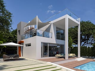 Luxury Villa at La Nucía, Alicante Pacheco & Asociados Modern Houses White