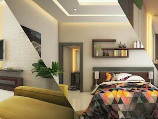 Monnaie Interiors Pvt Ltd Minimalist bedroom