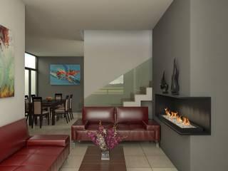 Casa MV: Salas de estilo  por Eutopia Arquitectura