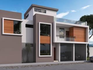 Fachada gris: Casas multifamiliares de estilo  por Eutopia Arquitectura