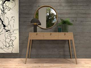 Projeto 3D Corredores, halls e escadas modernos por BORAGUI - Design Studio Moderno