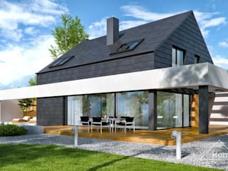 Maison individuelle de style  par HomeKONCEPT | Projekty Domów Nowoczesnych