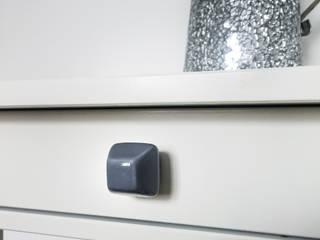 Ceramics handles - Diamond - colour dark grey glaze Viola Ceramics Studio ArteAltri oggetti d'arte Ceramica Grigio