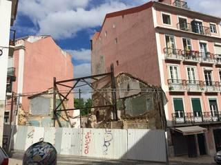 Demolição e contenção de empenas dos confinantes:   por Pedro Ferro Alpalhão Arquitecto