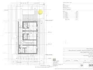 Planta piso 1: Pavimentos  por Pedro Ferro Alpalhão Arquitecto