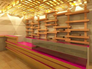 Design de interiores de espaço comercial - Padaria Protuguesa:   por darq - arquitectura, design, 3D