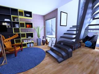 Bookstore Home Project Salas de estar modernas por Eduardo Luizi Moderno