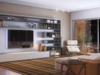 TV Room: Salas de estar modernas por Eduardo Luizi