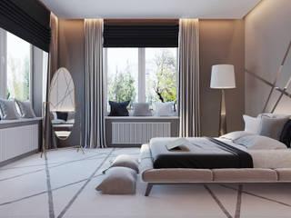 Структурированная пустота Спальня в эклектичном стиле от Андрейченко Анжеликa Эклектичный