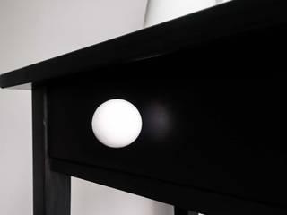 "Ceramics handles - Round 3,5 cm / 1,58"" - colour white glossy glaze Viola Ceramics Studio ArteAltri oggetti d'arte Ceramica Bianco"