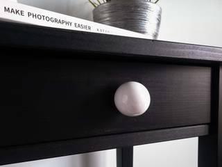 "Ceramics handles - Round 3,5 cm / 1,58"" - colour white matt glaze Viola Ceramics Studio ArteAltri oggetti d'arte Ceramica Bianco"